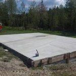betonová základová deska pro Zahradní domek